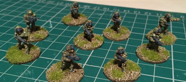 Painted 15mm GZG NAC section